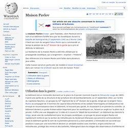 Maison Pavlov