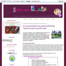 """Le guide 2006 """"Maison propre et jardin vert"""""""