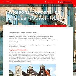 Maisons bordant les canaux d'Amsterdam