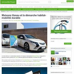 Maisons Hanau et la démarche habitat-mobilité durable