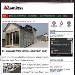 Des maisons de 200m2 imprimées en 3D pour 4 300€