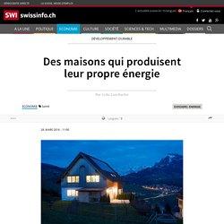 Des maisons qui produisent leur propre énergie