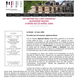 Un maître de l'art nouveau, Alphonse Mucha - 4 mars au 23 avril 1966