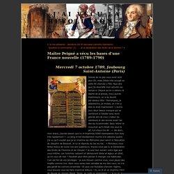 Maître Peigné a vécu les bases d'une France nouvelle (1789-1790)