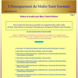 Maitre Saint Germain - Marc Saint Hilaire VIDEO - AUDIO.