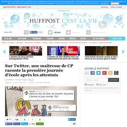 Sur Twitter, une maîtresse de CP raconte la première journée d'école après les attentats