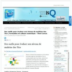 Des outils pour évaluer son niveau de maîtrise des Tice | Formation et culture numérique – Thot Cursus | e-Club • Icademie
