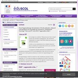 C 1 : Maîtrise de la langue française - Lecture