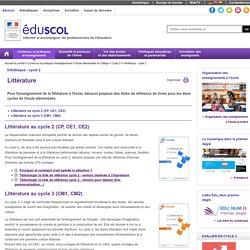 EDUSCOL - Littérature