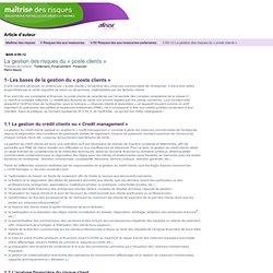 La gestion du crédit client: mode d'emploi