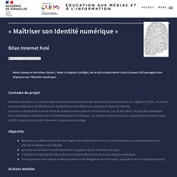 « Maîtriser son Identité numérique »