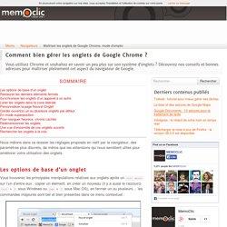 Maîtriser les onglets de Google Chrome, mode d'emploi