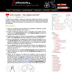 Arts visuels : «les objets animés»