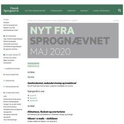Maj 2020 — Dansk Sprognævn
