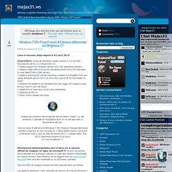 Résultats de recherche pour windows 7