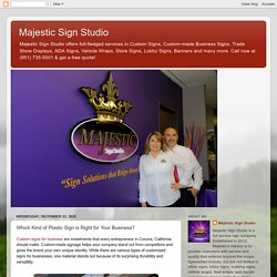 Custom Signs For Business Recognition