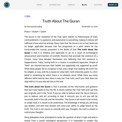 Truth About The Quran