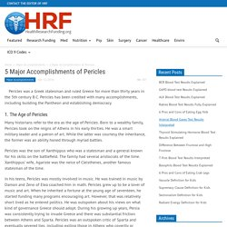 5 Major Accomplishments of Pericles