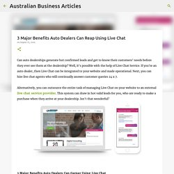 3 Major Benefits Auto Dealers Can Reap Using Live Chat