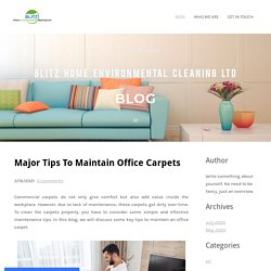 Major Tips To Maintain Office Carpets