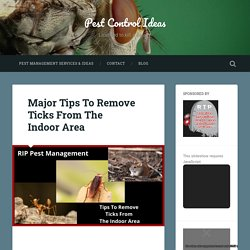 Major Tips To Remove Ticks From The Indoor Area – Pest Control Ideas