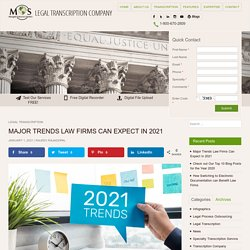Major Trends Law Firms Can Expect in 2021