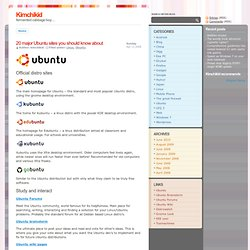 20 major Ubuntu sites you should know about - Kimchikid