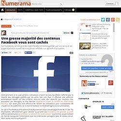Une grosse majorité des contenus Facebook vous sont cachés