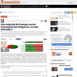 Une majorité de Français contre l'anonymat des blogueurs, ou mal