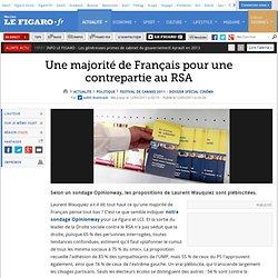 Politique : Une majorité de Français pour une contrepartie au RSA