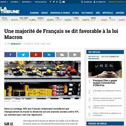 Une majorité de Français se dit favorable à la loi Macron