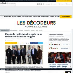 Une grande majorité de Français ne se réclament d'aucune religion
