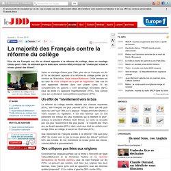 La majorité des Français contre la réforme du collège