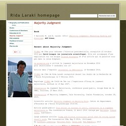 Majority Judgment - Rida Laraki homepage