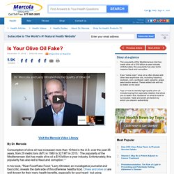 MERCOLA 17/12/16 Is Your Olive Oil Fake?
