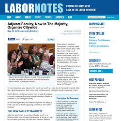 Adjunct Faculty, Now in The Majority, Organize Citywide