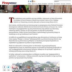 Makabayang adyenda sa ekonomiya – Pinoy Weekly