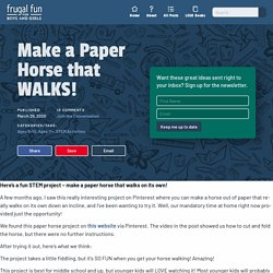 Make a Paper Horse that WALKS!