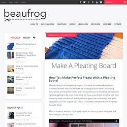 Make A Pleating Board