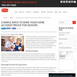 Make Your Home Accident-Proof for Seniors - HCA