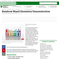 Make an Acid-Base Rainbow Wand