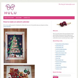 How to make an advent calendar, sew an advent calendar