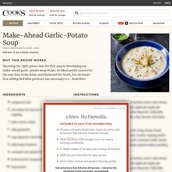 Make-Ahead Garlic-Potato Soup