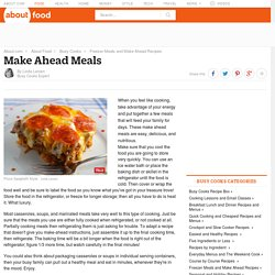 Make Ahead Meals Recipes