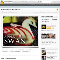 Make an Edible Apple Swan!