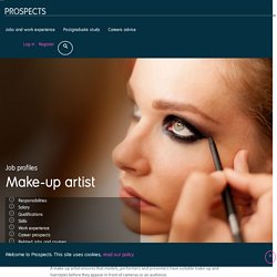 Make-up artist job profile