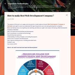 How to make Best Web Development Company?