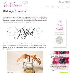 Birdcage Ornament
