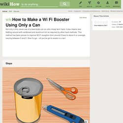 How to Make a Wi Fi Booster Using Only a Beer Can