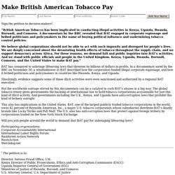 Make British American Tobacco Pay